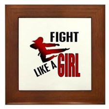 Fight Like a Girl 4.1 Framed Tile