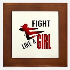 Fight Like a Girl 4.1 Framed Tile
