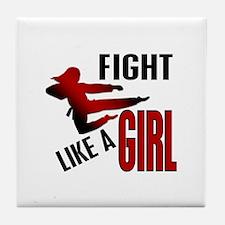 Fight Like a Girl 4.1 Tile Coaster