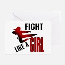 Fight Like a Girl 4.1 Greeting Cards (Pk of 20)