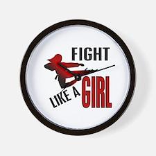 Fight Like a Girl 4.1 Wall Clock
