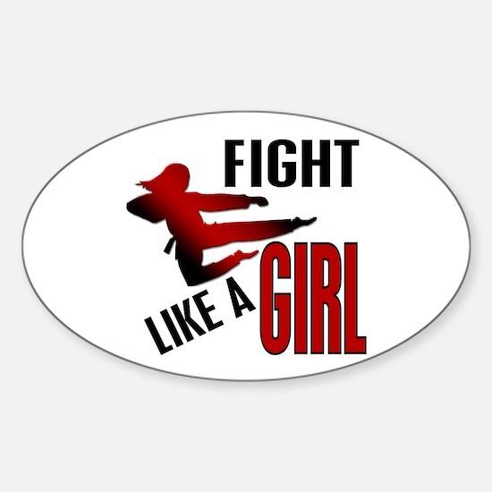 Fight Like a Girl 4.1 Sticker (Oval)