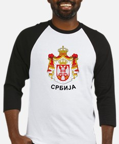 Serbia coat of arms with name Baseball Jersey