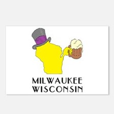 Wisconsin State Beer & To Postcards (Package of 8)