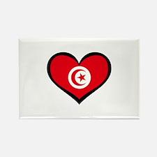 Tunisia Love Rectangle Magnet