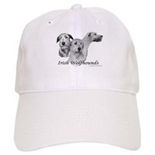 3 head study B&W Irish Wolfhound Baseball Cap