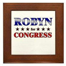 ROBYN for congress Framed Tile