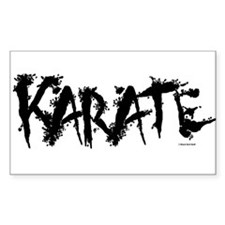 """Karate"" 3 Rectangle Decal"