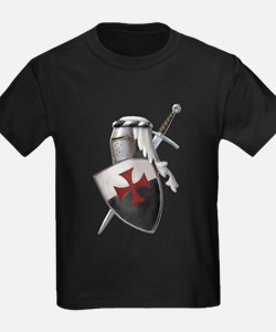 Templar shield with white top T-Shirt