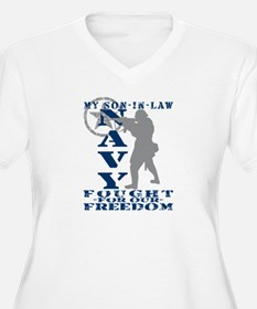 Son-n-Law Fought Freedom - NAVY T-Shirt