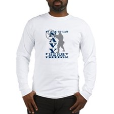 Son-n-Law Fought Freedom - NAVY Long Sleeve T-Shir
