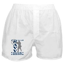 Son-n-Law Fought Freedom - NAVY Boxer Shorts