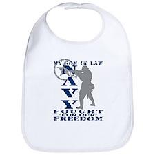 Son-n-Law Fought Freedom - NAVY Bib
