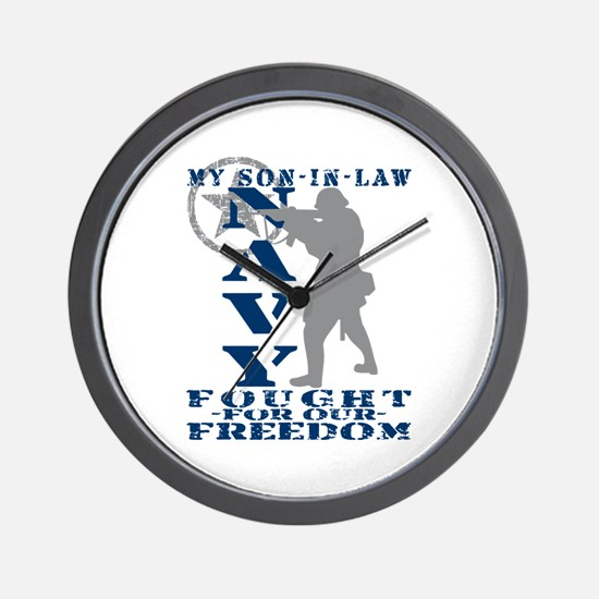 Son-n-Law Fought Freedom - NAVY Wall Clock