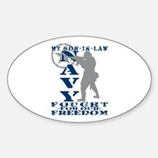 Son-n-Law Fought Freedom - NAVY Oval Decal