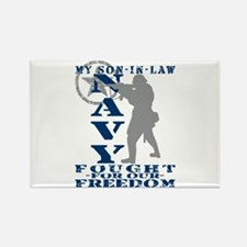 Son-n-Law Fought Freedom - NAVY Rectangle Magnet