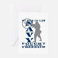 Son-n-Law Fought Freedom - NAVY Greeting Cards (Pk