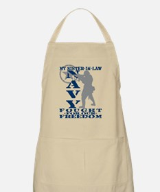 Sis-n-Law Fought Freedom - NAVY BBQ Apron