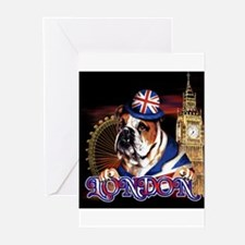 Bulldog LDN 07 Greeting Cards (Pk of 10)