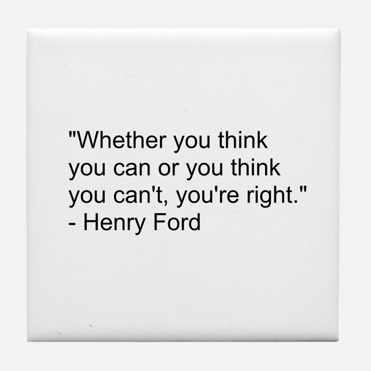 Henry Ford Quote Tile Coaster