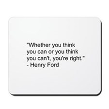 Henry Ford Quote Mousepad