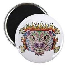 Flaming Pig Magnets