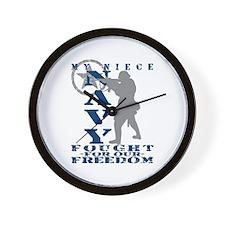 Niece Fought Freedom - NAVY Wall Clock