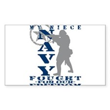 Niece Fought Freedom - NAVY Rectangle Decal