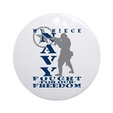 Niece Fought Freedom - NAVY Ornament (Round)