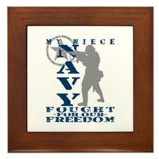 Niece Fought Freedom - NAVY Framed Tile