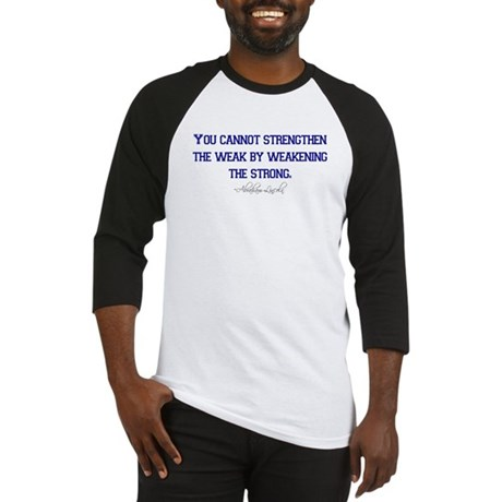 Abraham Lincoln Quote T-shirt Baseball Jersey