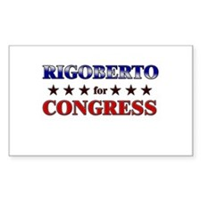 RIGOBERTO for congress Rectangle Decal