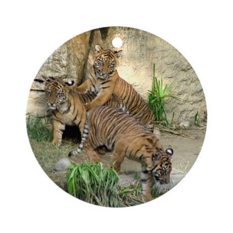Helaine's Tiger Cubs 2 Ornament (Round)