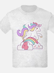 Unicorn 4th Birthday T-Shirt