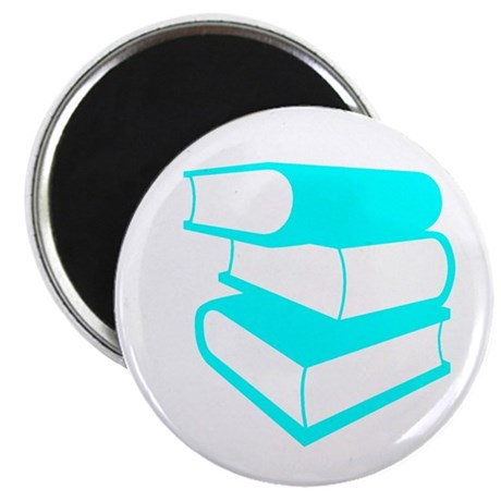 Stack Of Cyan Books Magnet