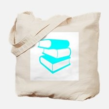 Stack Of Cyan Books Tote Bag