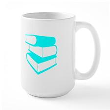 Stack Of Cyan Books Mug