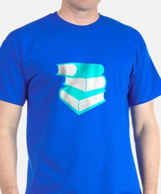 Stack Of Cyan Books T-Shirt
