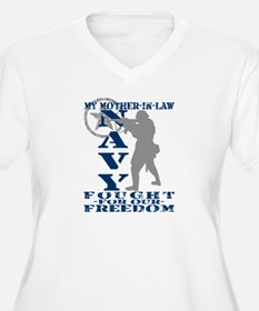 Mother-n-Law Fought Freedom - NAVY T-Shirt