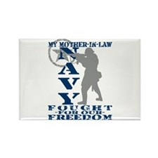 Mother-n-Law Fought Freedom - NAVY Rectangle Magne