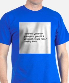 Henry Ford quote blue T-Shirt