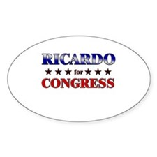 RICARDO for congress Oval Decal