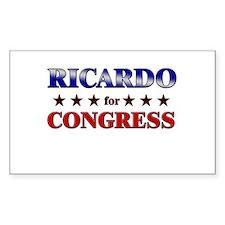 RICARDO for congress Rectangle Decal