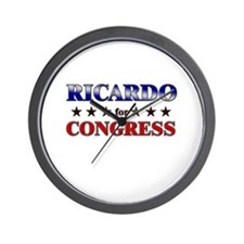 RICARDO for congress Wall Clock