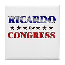 RICARDO for congress Tile Coaster