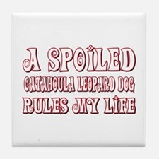 Spoiled Catahoula Tile Coaster