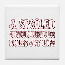 Spoiled Catahoula Tile Coaster