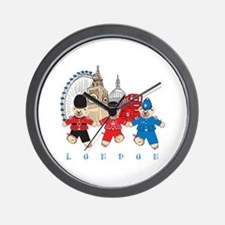 Teddy Holding Hands Wall Clock