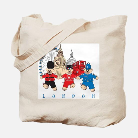 Teddy Holding Hands Tote Bag