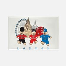 Teddy Holding Hands Rectangle Magnet (10 pack)